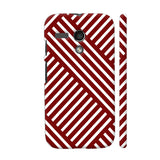 Diagonal Stripes Red Motorola Moto G1 Case