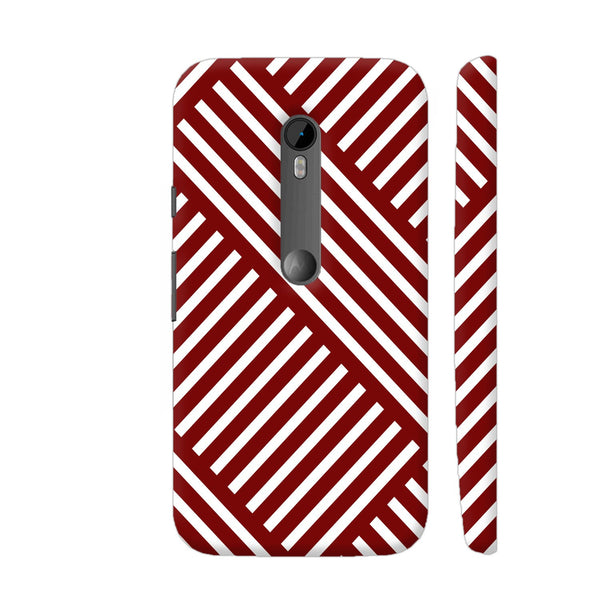 Diagonal Stripes Red Moto G3 Cover | Artist: Abhinav