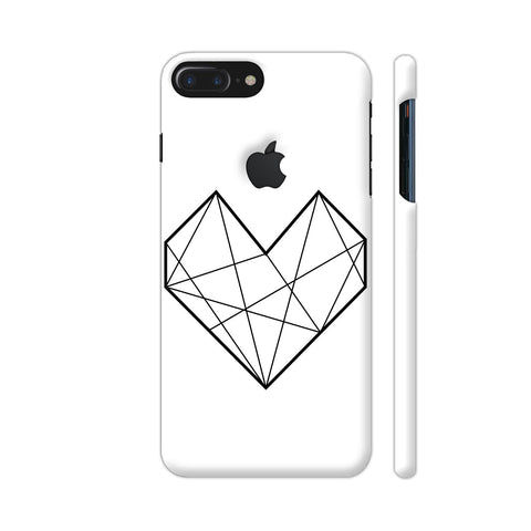 Diamond Heart Stroke iPhone 7 Plus Logo Cut Cover | Artist: Adeela Abdul Razak