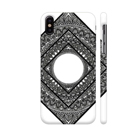 Diamond Mandala iPhone X Cover | Artist: Designs by Gulmohar