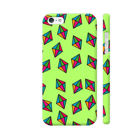 Diamond Pattern On Green iPhone 5 / 5s Cover | Artist: Malls