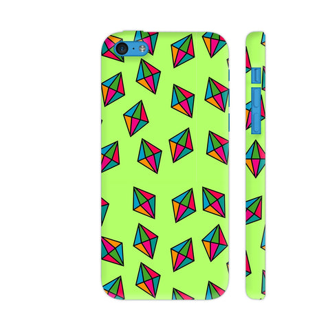 Diamond Pattern On Green iPhone 5c Cover | Artist: Malls