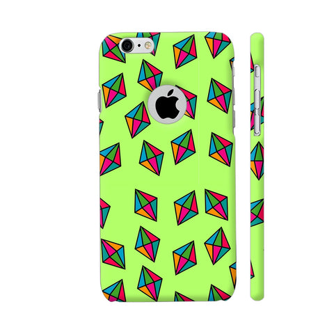 Diamond Pattern On Green iPhone 6 / 6s Logo Cut Cover | Artist: Malls