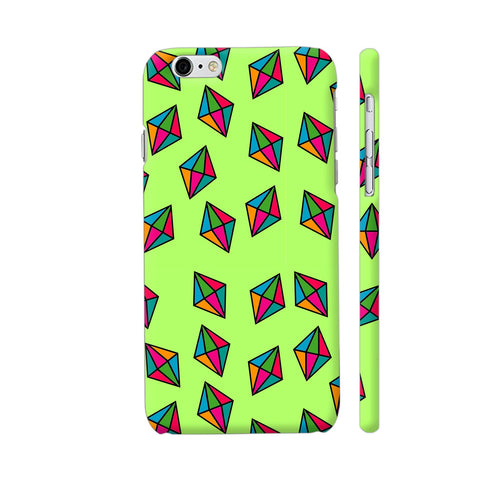 Diamond Pattern On Green iPhone 6 / 6s Cover | Artist: Malls