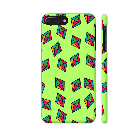 Diamond Pattern On Green iPhone 7 Plus Cover | Artist: Malls