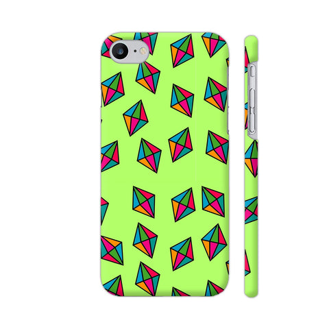 Diamond Pattern On Green iPhone 7 Cover | Artist: Malls