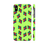 Diamond Pattern On Green iPhone X Cover | Artist: Malls
