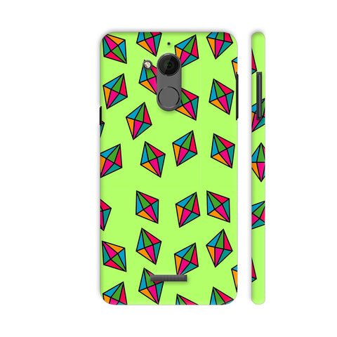 Diamond Pattern On Green Coolpad Note 5 Cover | Artist: Malls