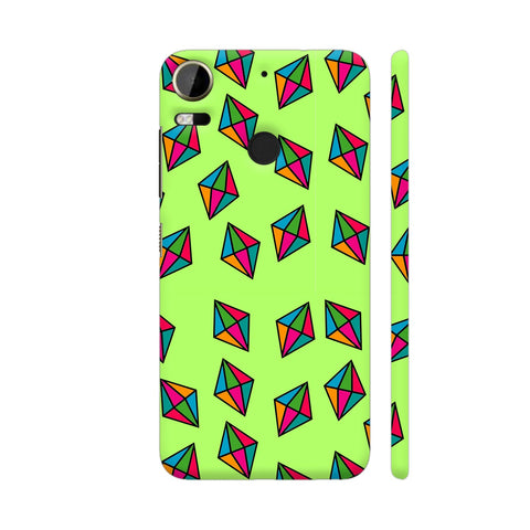 Diamond Pattern On Green HTC Desire 10 Pro Cover | Artist: Malls