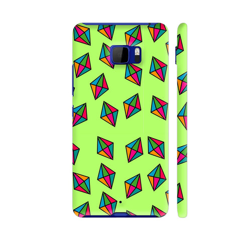 Diamond Pattern On Green HTC U Ultra Cover | Artist: Malls