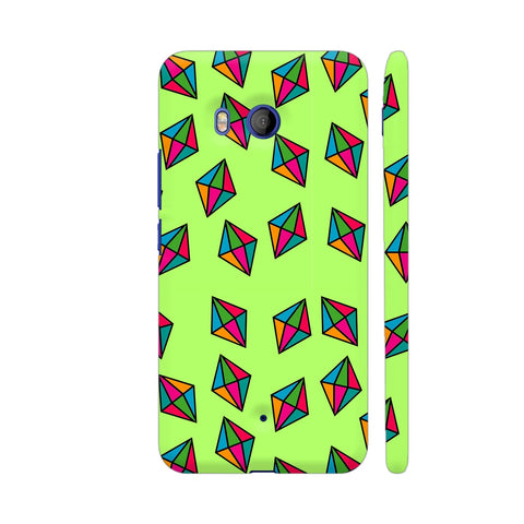Diamond Pattern On Green HTC U11 Cover | Artist: Malls