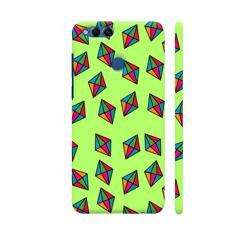 Diamond Pattern On Green Honor 7X Cover | Artist: Malls