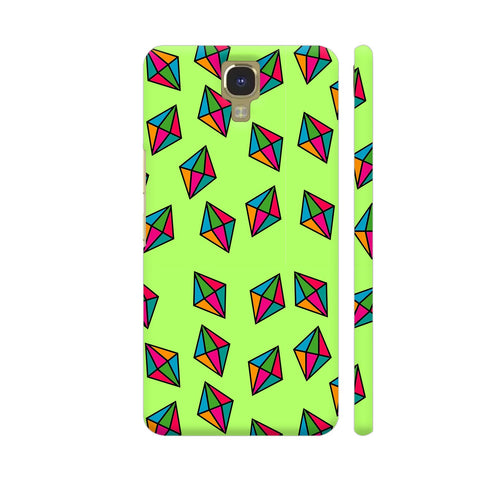Diamond Pattern On Green Infinix Note 4 Cover | Artist: Malls