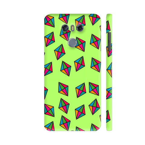 Diamond Pattern On Green LG G6 Cover | Artist: Malls