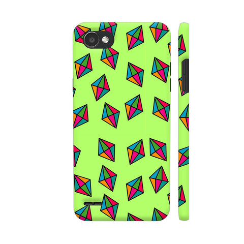 Diamond Pattern On Green LG Q6 Cover | Artist: Malls