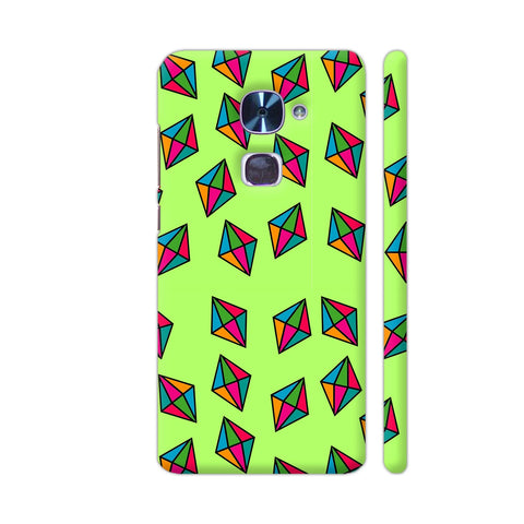 Diamond Pattern On Green LeEco Le 2 Cover | Artist: Malls