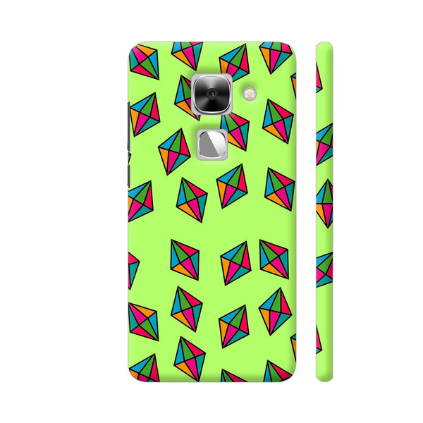 Diamond Pattern On Green LeEco Le Max 2 Cover | Artist: Malls