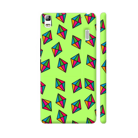 Diamond Pattern On Green Lenovo K3 Note Cover | Artist: Malls