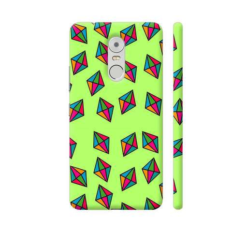 Diamond Pattern On Green Lenovo K6 Note Cover | Artist: Malls