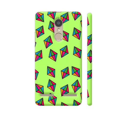 Diamond Pattern On Green Lenovo K6 Power Cover | Artist: Malls