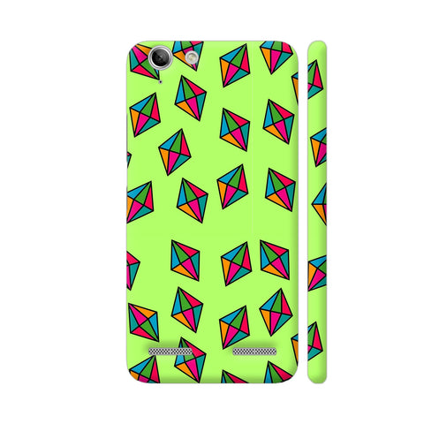 Diamond Pattern On Green Lenovo Vibe K5 / K5 Plus Cover | Artist: Malls