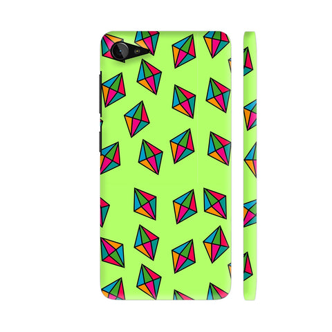Diamond Pattern On Green Lenovo Z2 Plus Cover | Artist: Malls