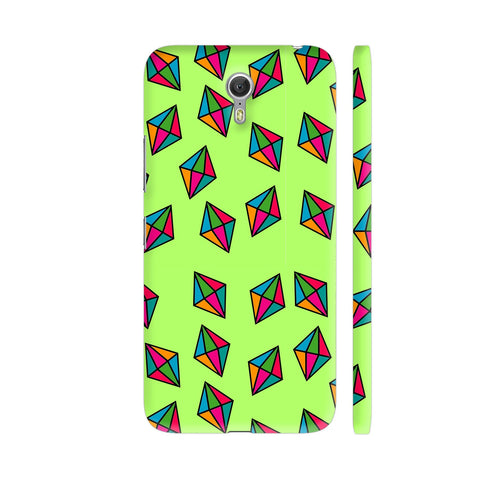 Diamond Pattern On Green Lenovo Zuk Z1 Cover | Artist: Malls