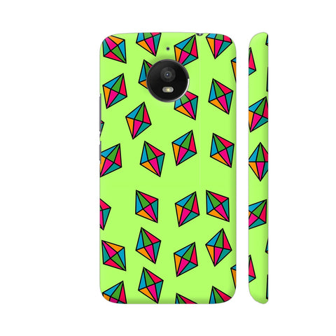 Diamond Pattern On Green Moto E4 Plus Cover | Artist: Malls