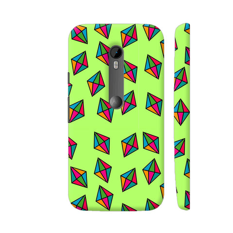 Diamond Pattern On Green Moto G3 Cover | Artist: Malls