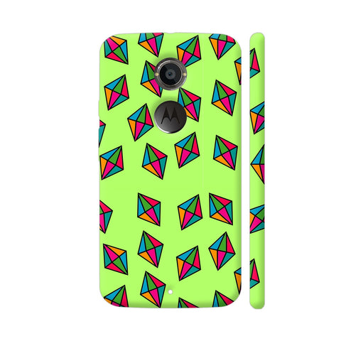 Diamond Pattern On Green Moto X2 Cover | Artist: Malls