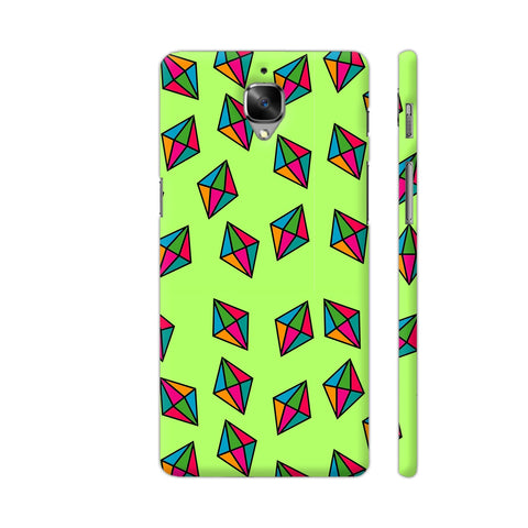 Diamond Pattern On Green OnePlus 3T Cover | Artist: Malls