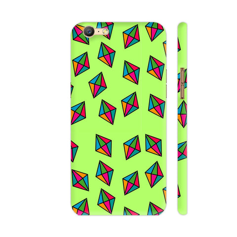 Diamond Pattern On Green Oppo A57 Cover | Artist: Malls