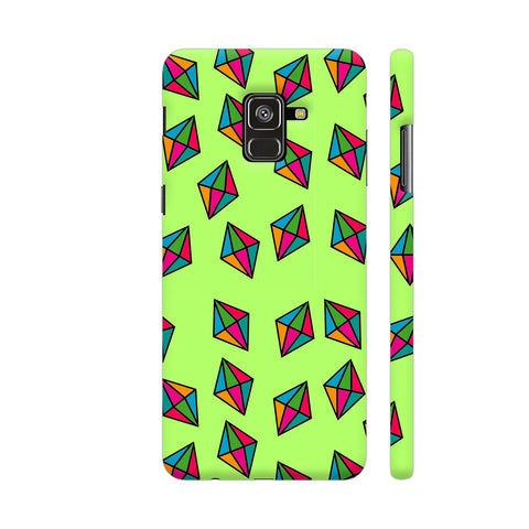 Diamond Pattern On Green Samsung A8 Cover | Artist: Malls