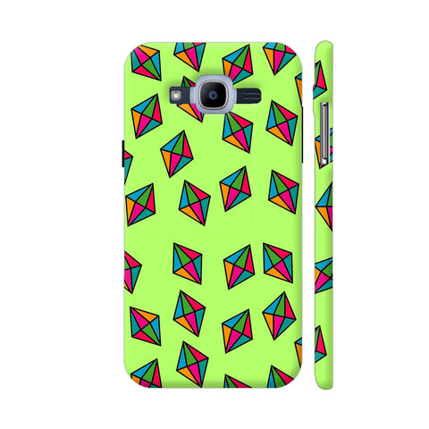 Diamond Pattern On Green Samsung J2 Pro Cover | Artist: Malls