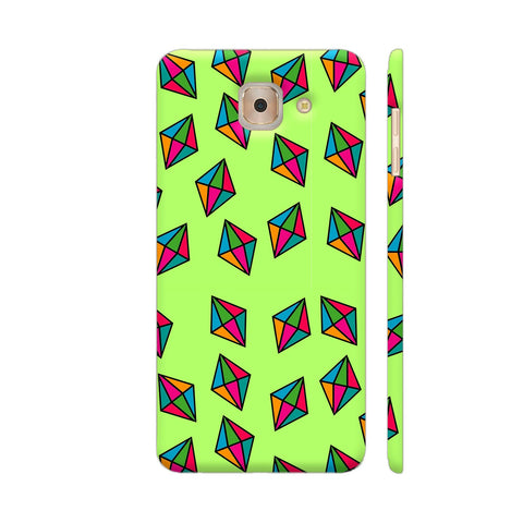Diamond Pattern On Green Samsung J7 Max Cover | Artist: Malls