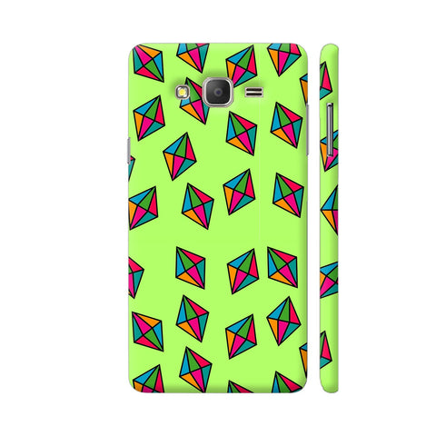 Diamond Pattern On Green Samsung J7 Nxt Cover | Artist: Malls