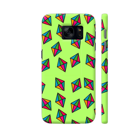 Diamond Pattern On Green Samsung S7 Cover | Artist: Malls
