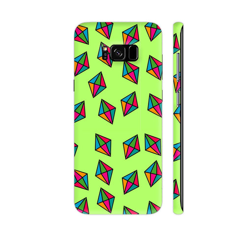 Diamond Pattern On Green Samsung S8+ Cover | Artist: Malls