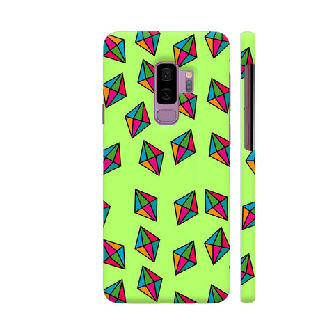 Diamond Pattern On Green Samsung S9+ Cover | Artist: Malls