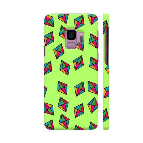 Diamond Pattern On Green Samsung S9 Cover | Artist: Malls