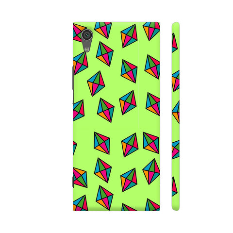 Diamond Pattern On Green Sony Xperia XA1 Cover | Artist: Malls