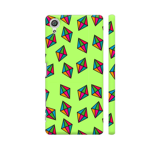 Diamond Pattern On Green Sony Xperia X Cover | Artist: Malls