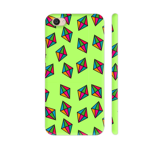 Diamond Pattern On Green Vivo V5 Plus Cover | Artist: Malls