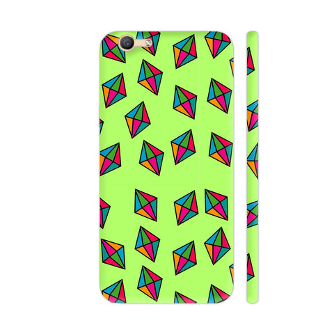 Diamond Pattern On Green Vivo Y66 Cover | Artist: Malls