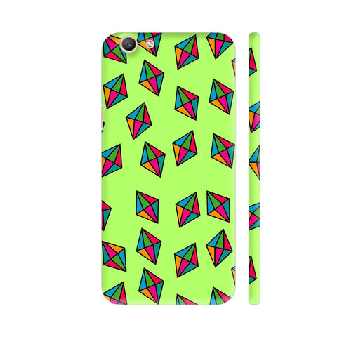 Diamond Pattern On Green Vivo Y69 Cover | Artist: Malls