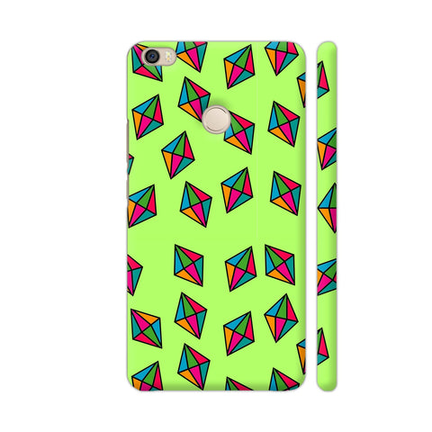 Diamond Pattern On Green Xiaomi Mi Max Cover | Artist: Malls