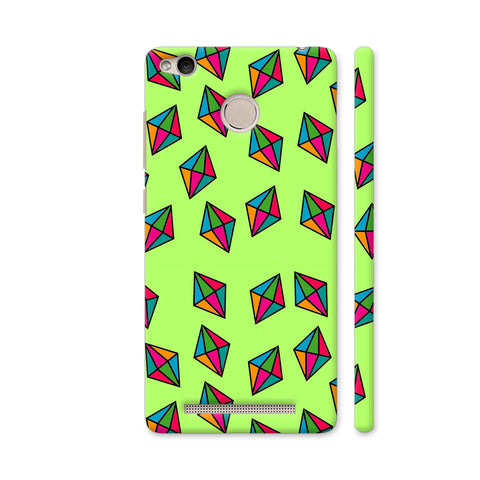 Diamond Pattern On Green Redmi 3S Prime Cover | Artist: Malls