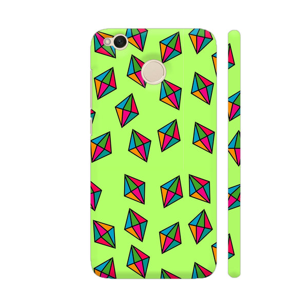 Diamond Pattern On Green Xiaomi Redmi 4 Cover | Artist: Malls