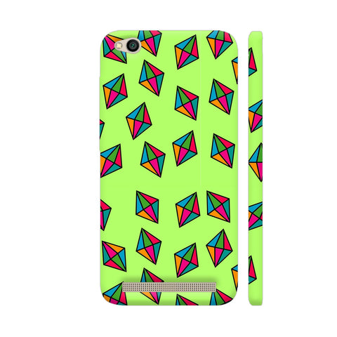 Diamond Pattern On Green Redmi 5A Cover | Artist: Malls