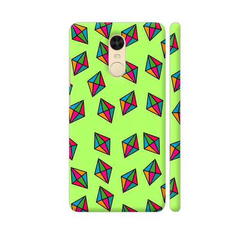 Diamond Pattern On Green Redmi Note 4 Cover | Artist: Malls